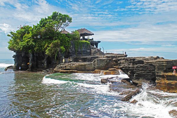 Wisata Pura Tanah Lot, Bali, Indonesia